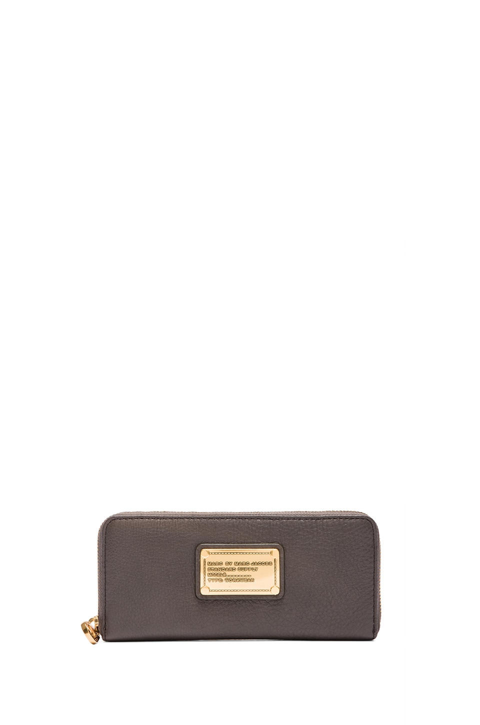 Marc by Marc Jacobs Classic Q Slim Zip Around Wallet in Faded Aluminum