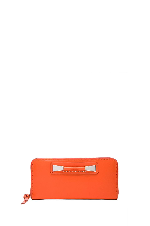 Marc by Marc Jacobs Femme Fatale Slim Zip Around Wallet in Spiced Orange