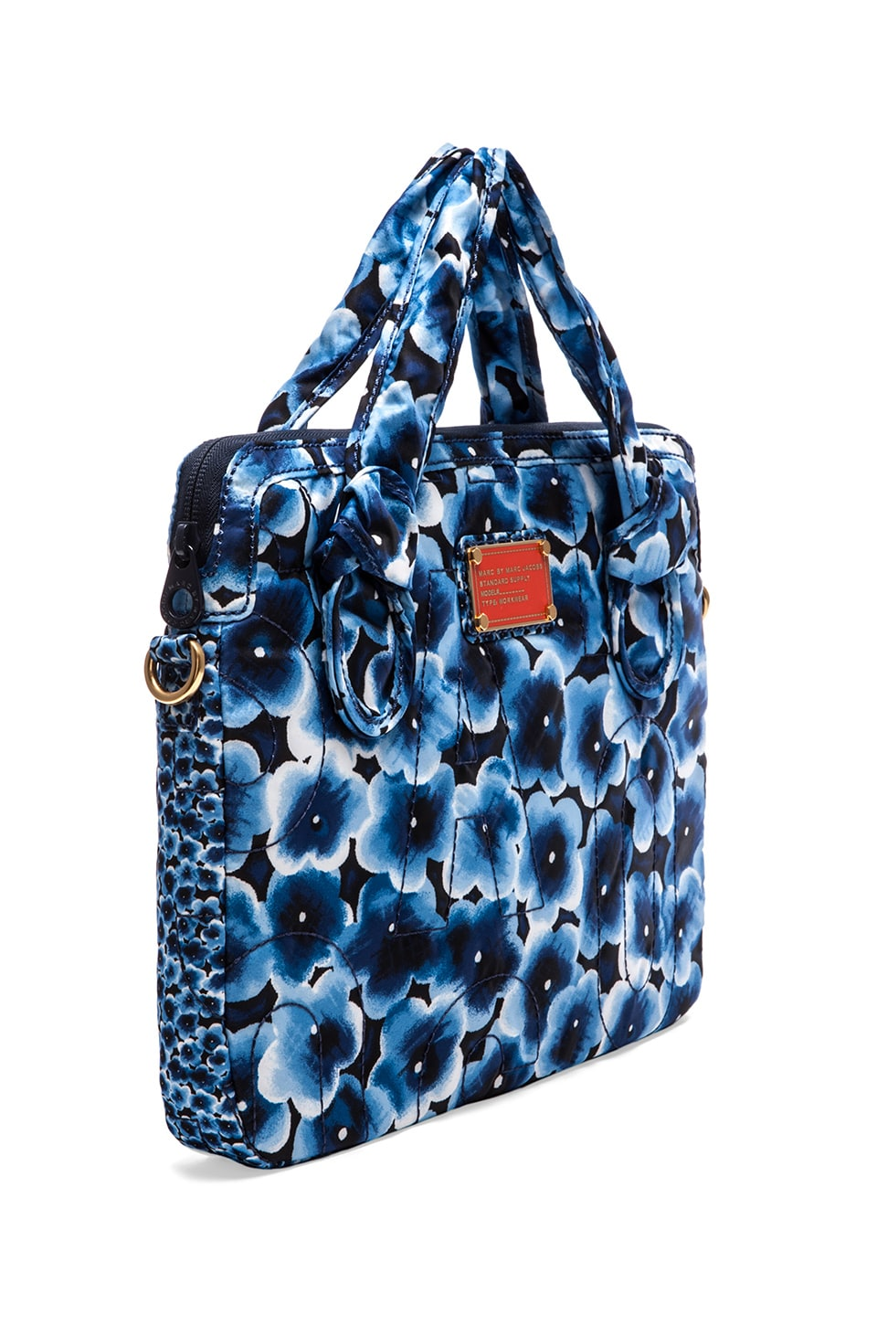 "Marc by Marc Jacobs Pretty Nylon Aki Floral 13"" Commuter Case in Skipper Blue Multi"