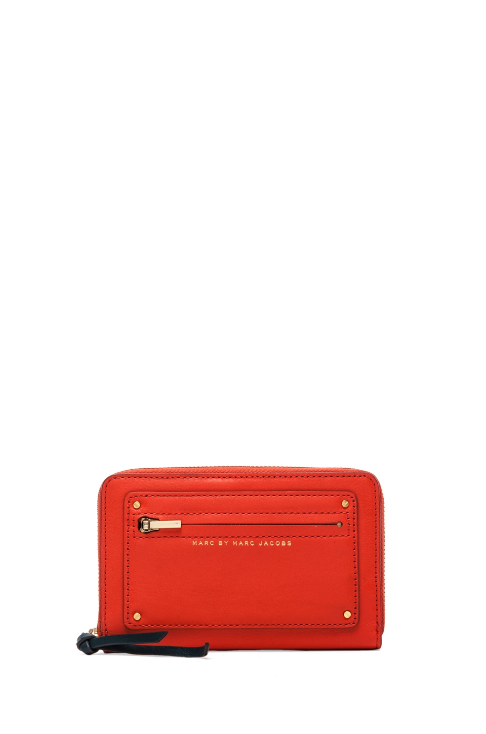 Marc by Marc Jacobs Military Leather Wingman in Orange Glow