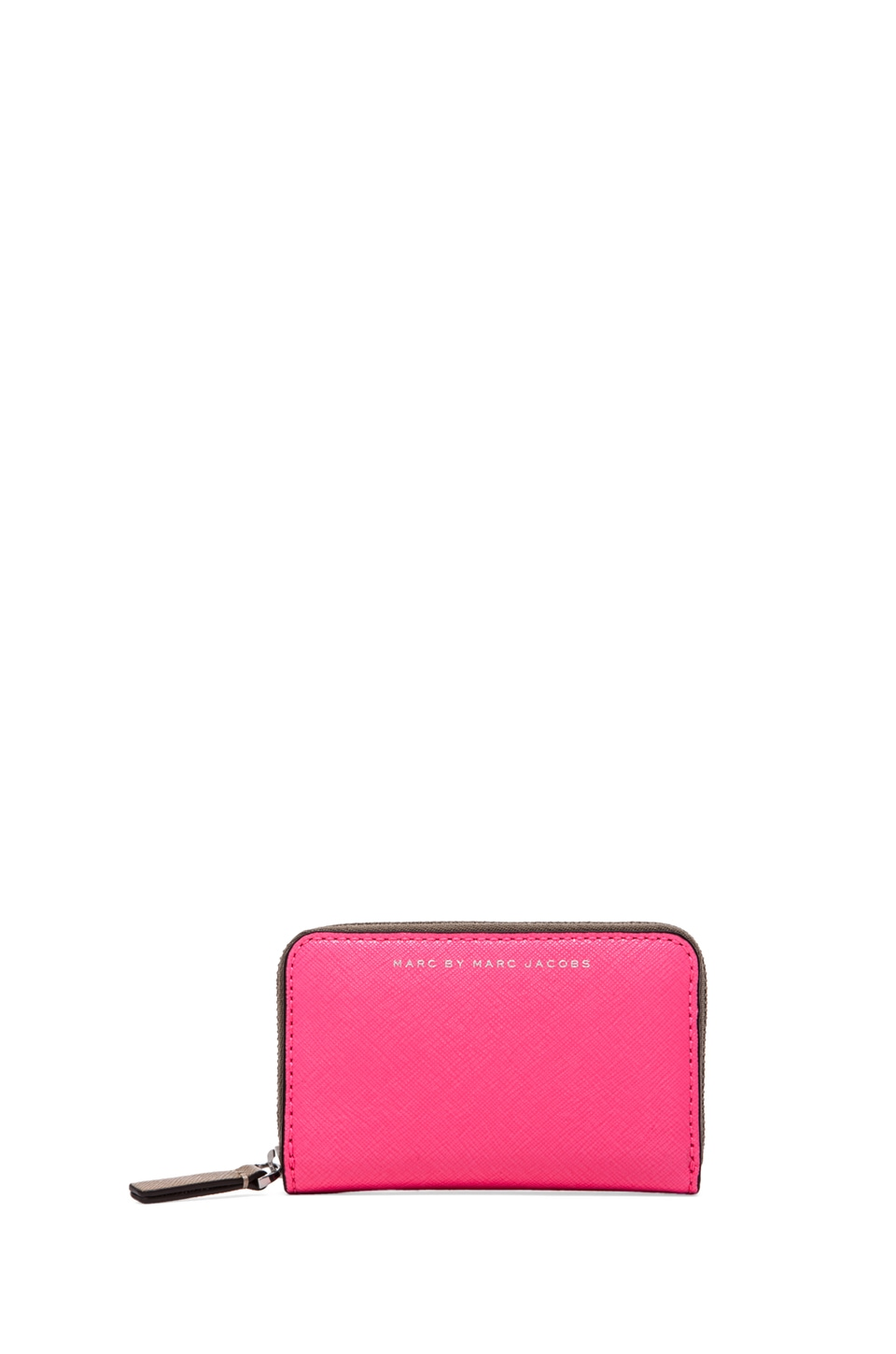 Marc by Marc Jacobs Sophisticato Colorblocked Zip Card Case in Knockout pink