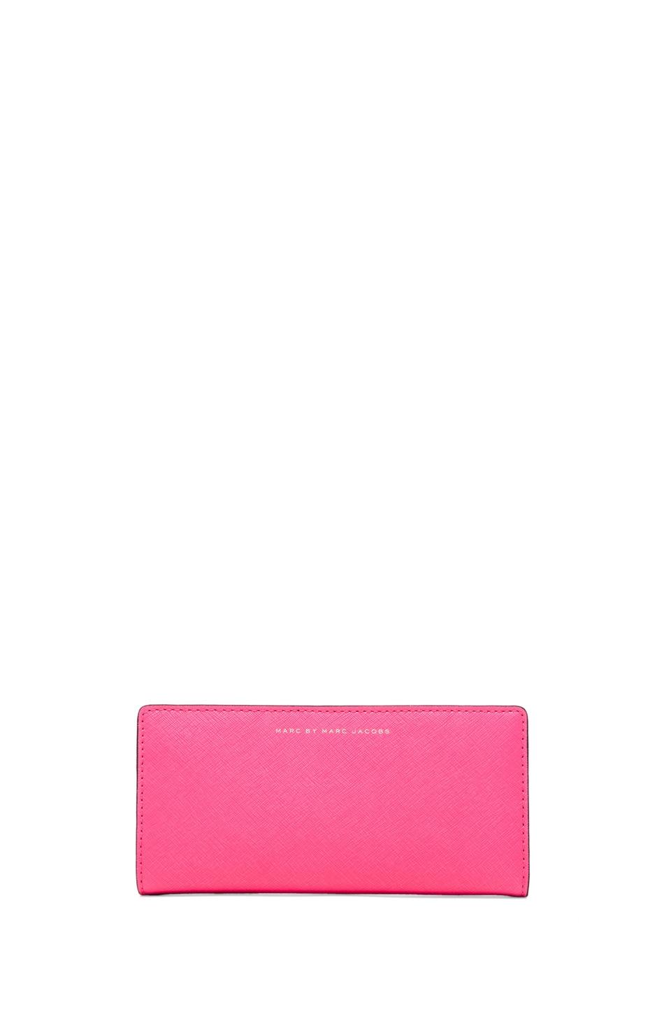 Marc by Marc Jacobs Sophisticato Colorblocked Tomoko Wallet in Knockout Pink