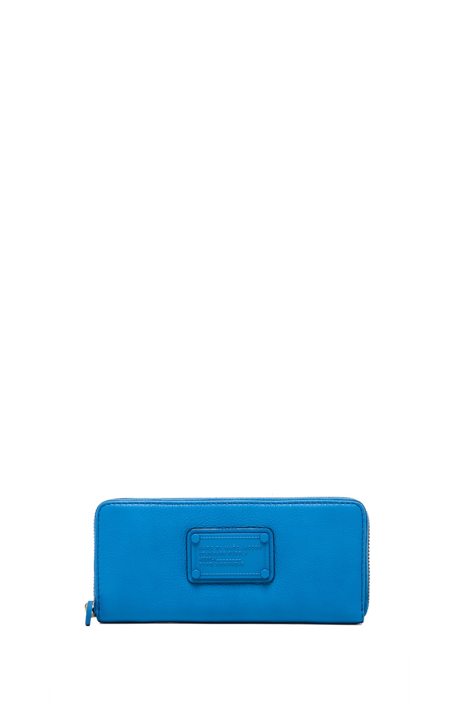 Marc by Marc Jacobs Electro Q Slim Zip Around Wallet in Electric Blue Lemonade