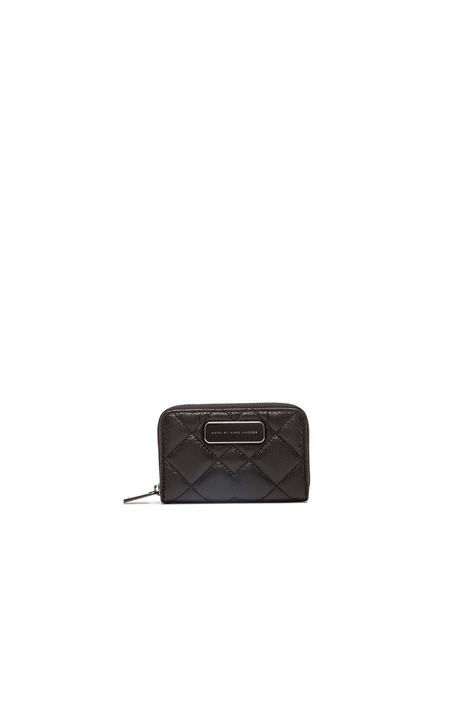 Marc by Marc Jacobs Crosby Quilted Zip Card Case in Black