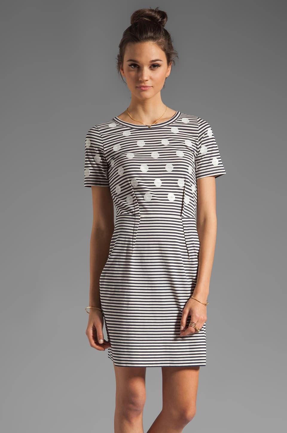 Marc by Marc Jacobs Resort Willa Dotted Jersey Dress in Tapioca Multi