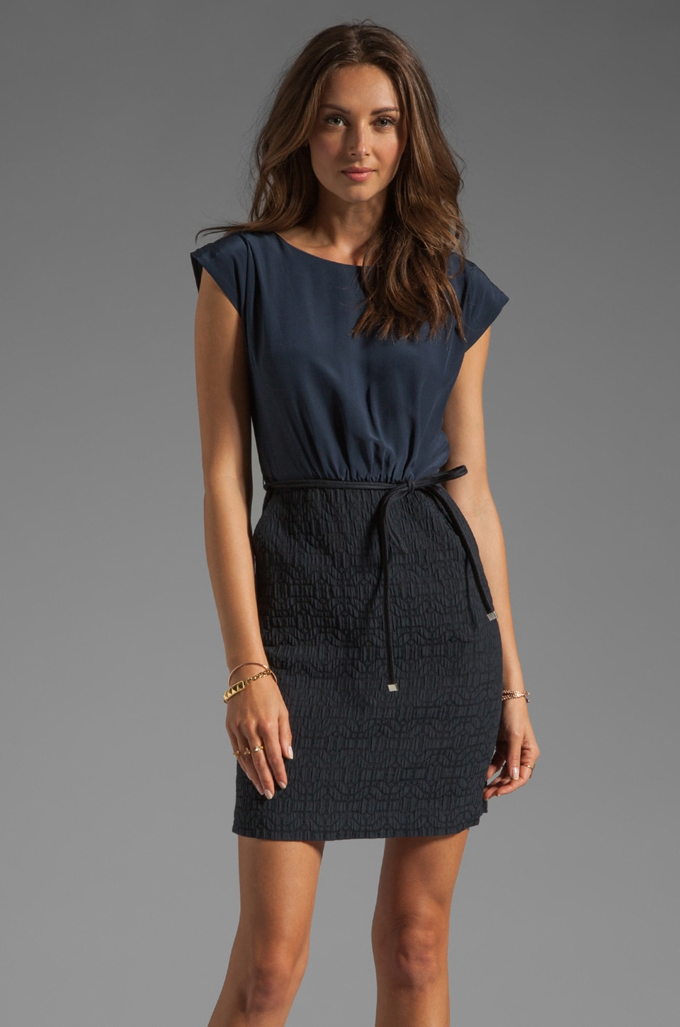 Marc by Marc Jacobs Winona Cloque Dress in Normandy Blue