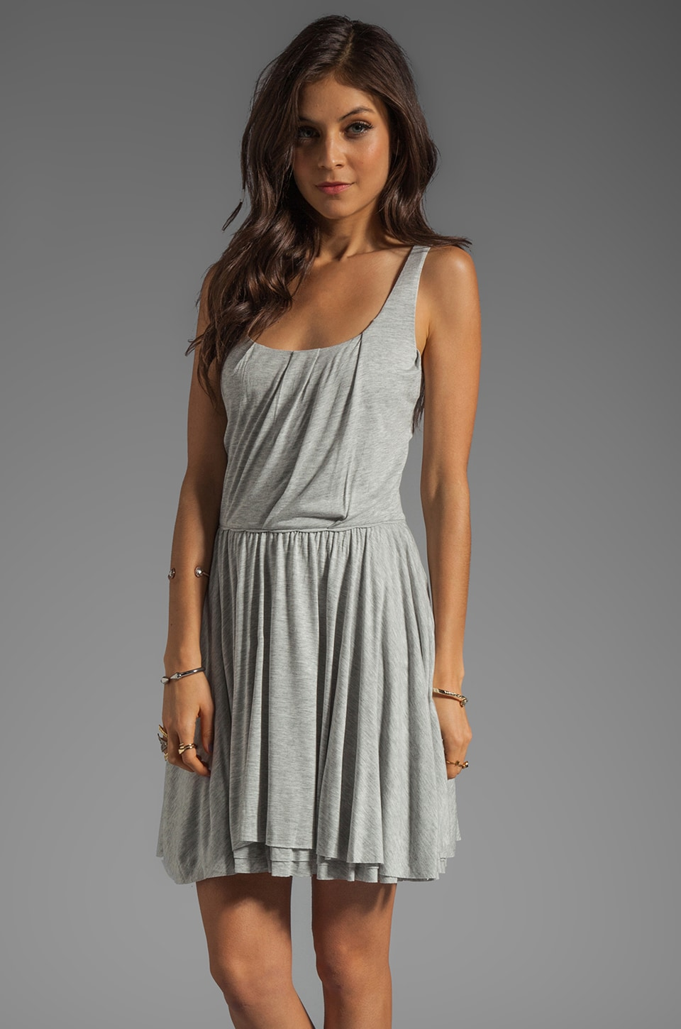 Marc by Marc Jacobs Beals Mini Dress in Mouse Grey Melange