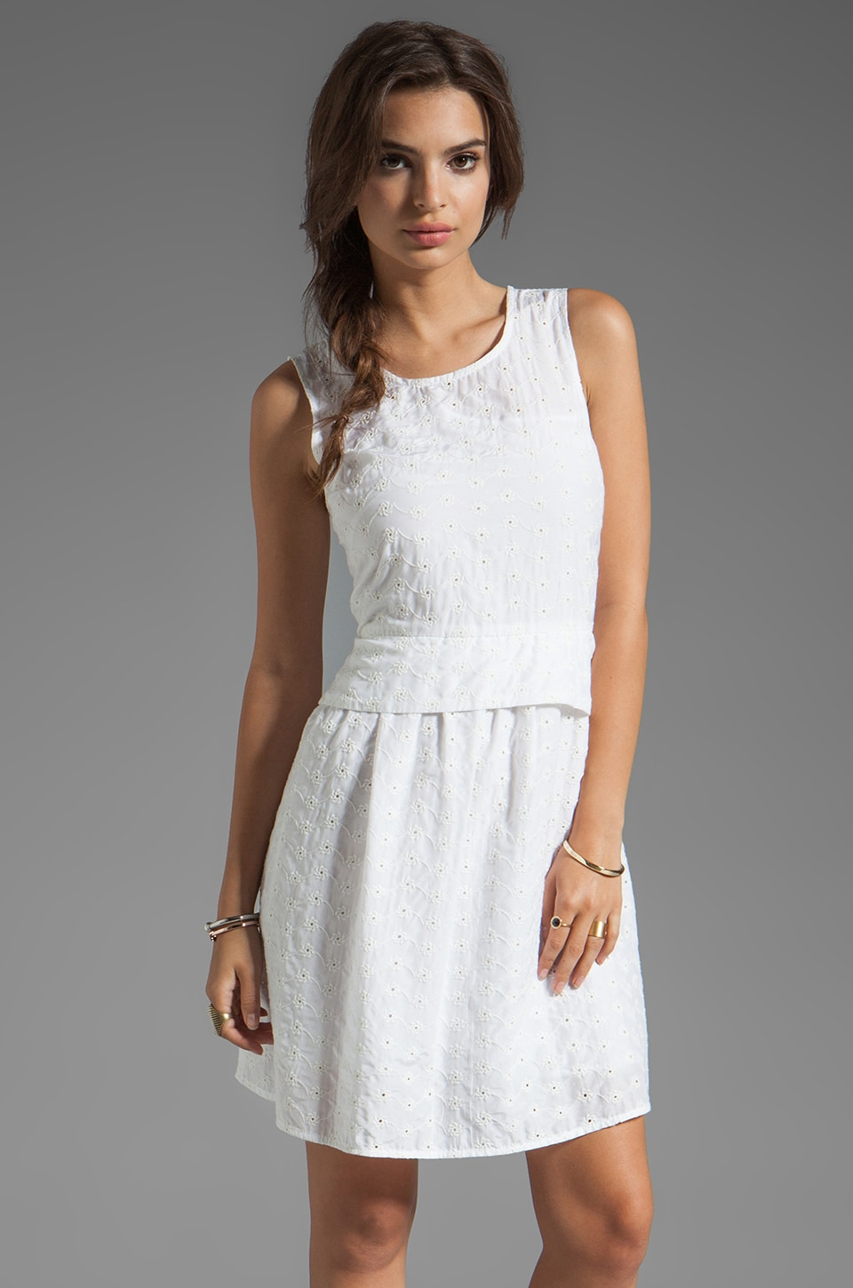 Marc by Marc Jacobs Rosie Eyelet Dress in Wicken White Multi