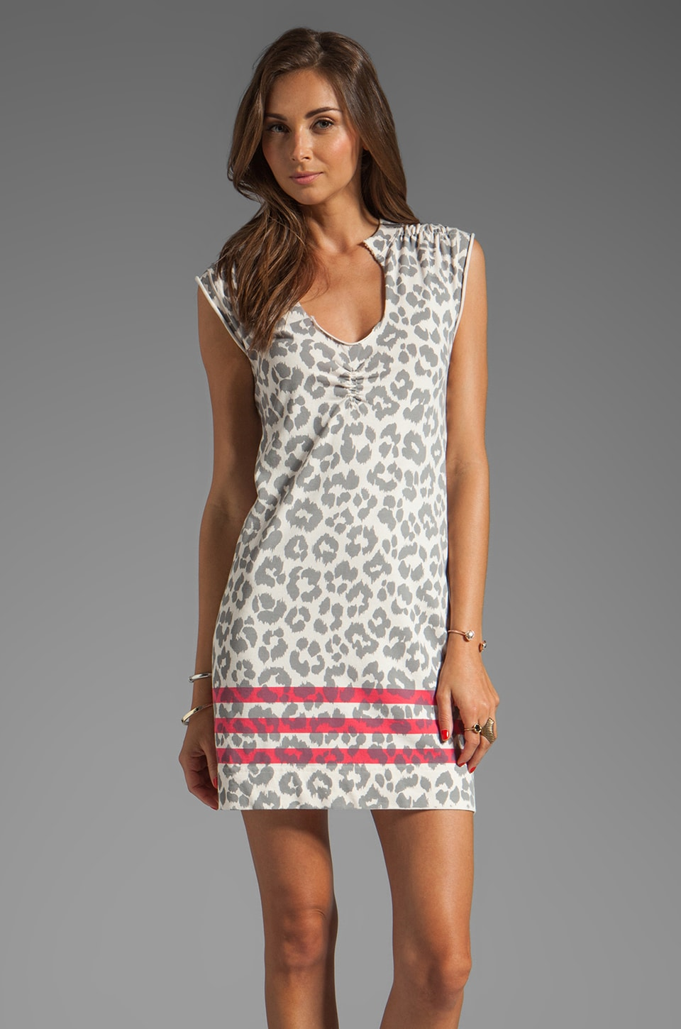 Marc by Marc Jacobs Dita the Cheetah Dress in Dapper Grey Multi