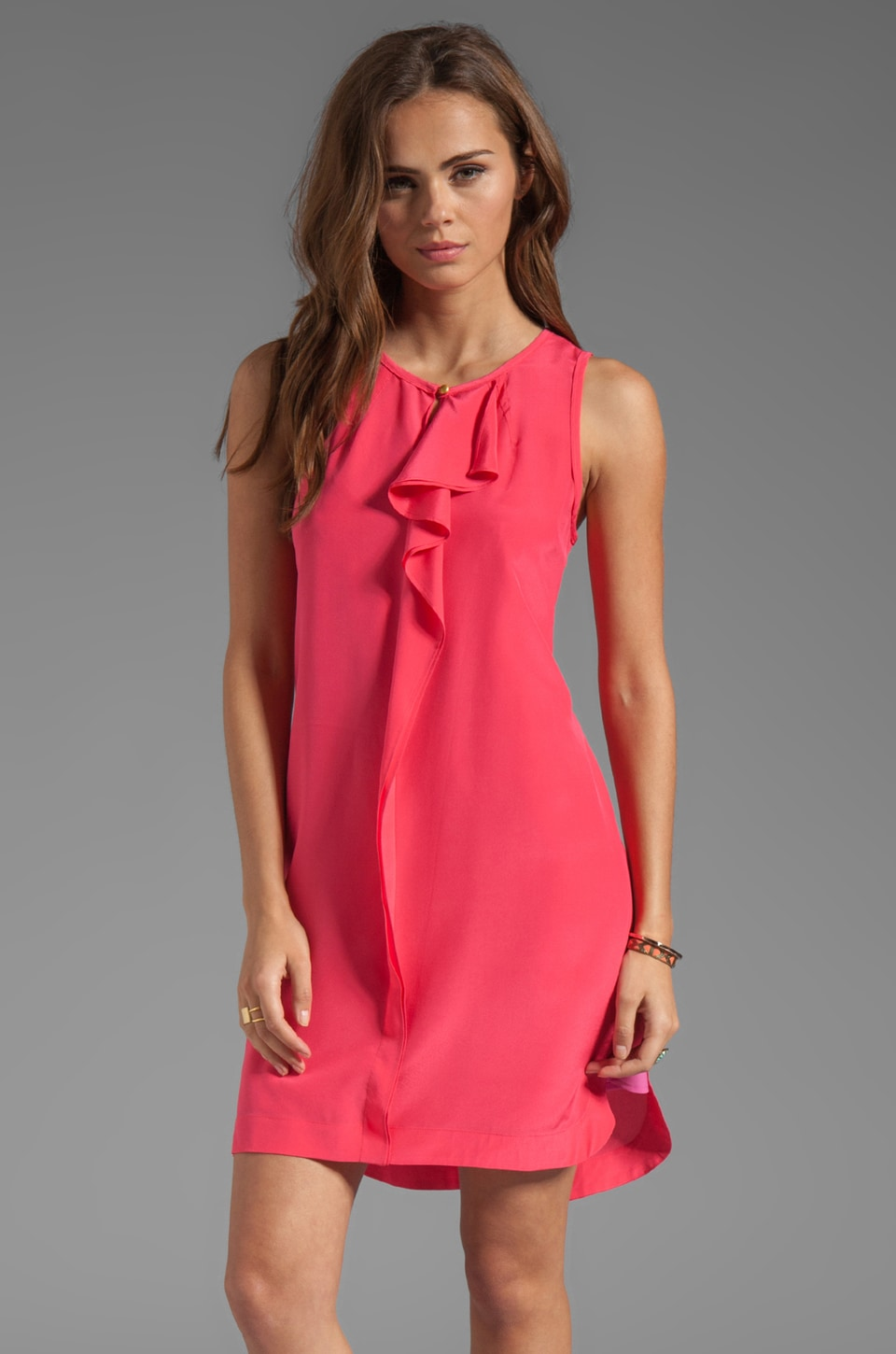 Marc by Marc Jacobs Alex CDC Sleeveless Dress in Neon Pink