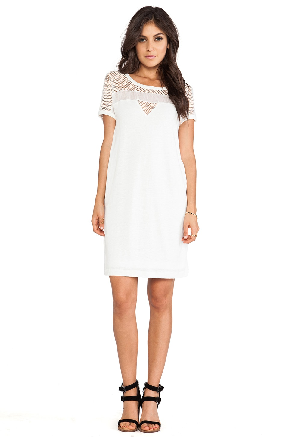 Marc by Marc Jacobs Texture Tee Linen Dress in Marshmallow