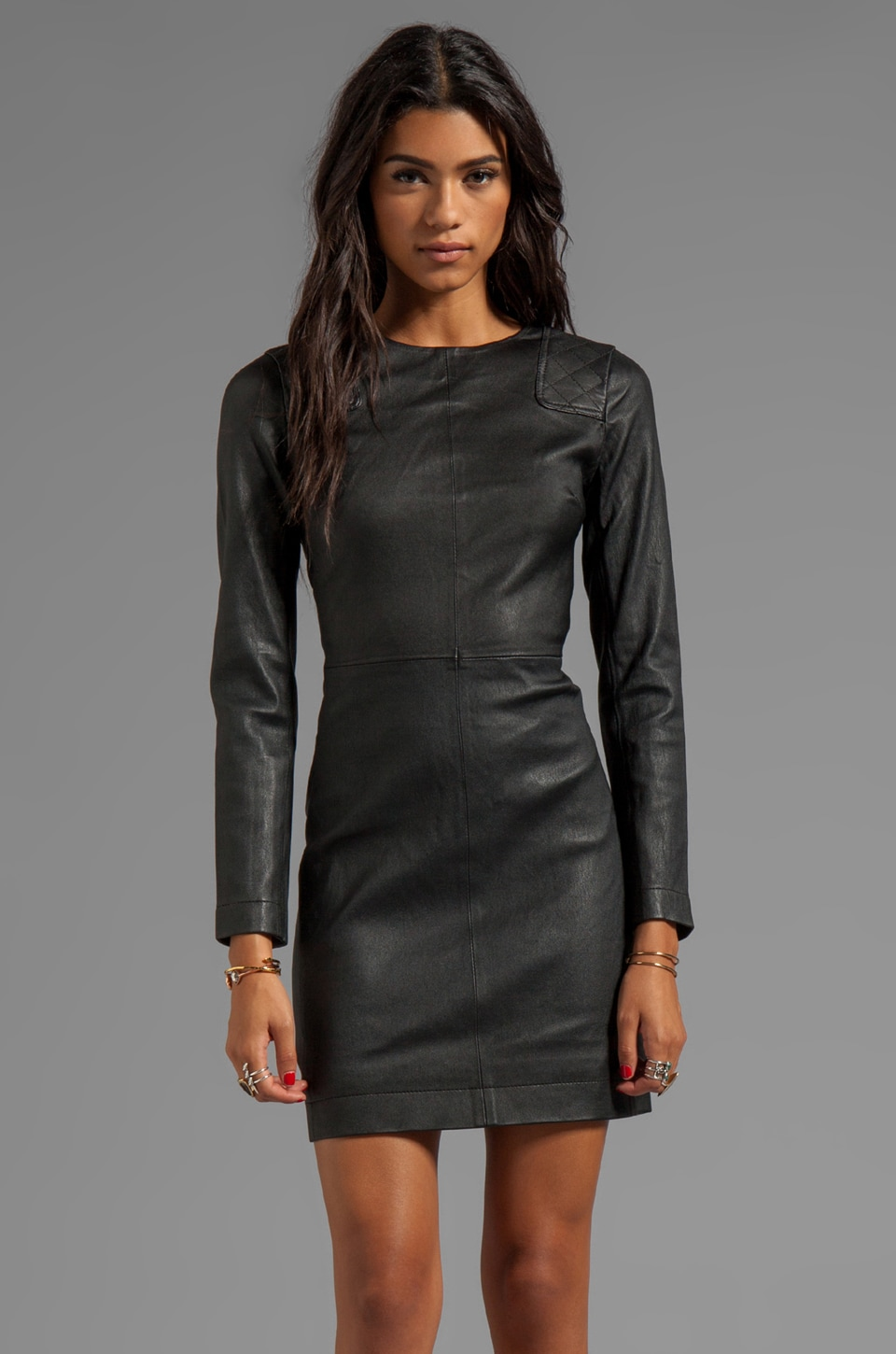 Marc by Marc Jacobs Lena Leather Dress in Black