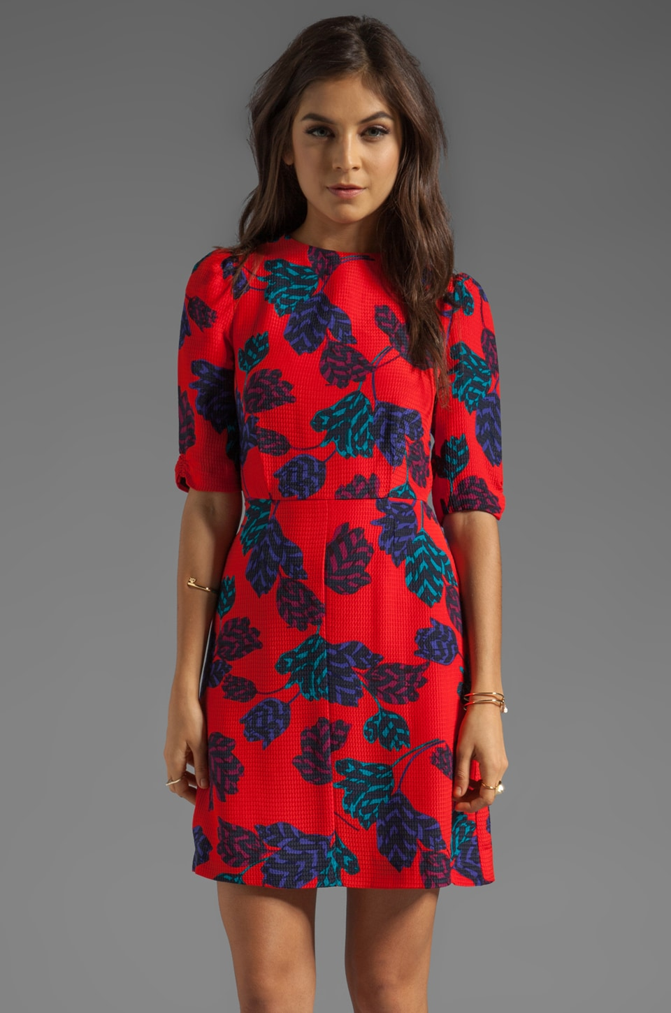 Marc by Marc Jacobs Mareika Tulip Dress in Corvette Red Multi