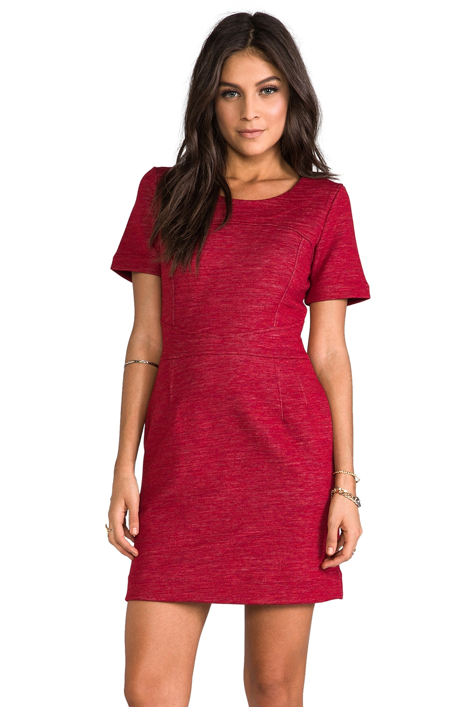 Marc by Marc Jacobs Gertrude Wool Dress in Cardinal Red