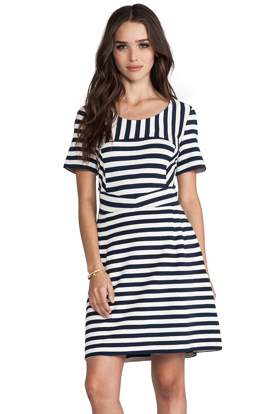 Marc by Marc Jacobs Yuni Stripe Dress in Black Iris