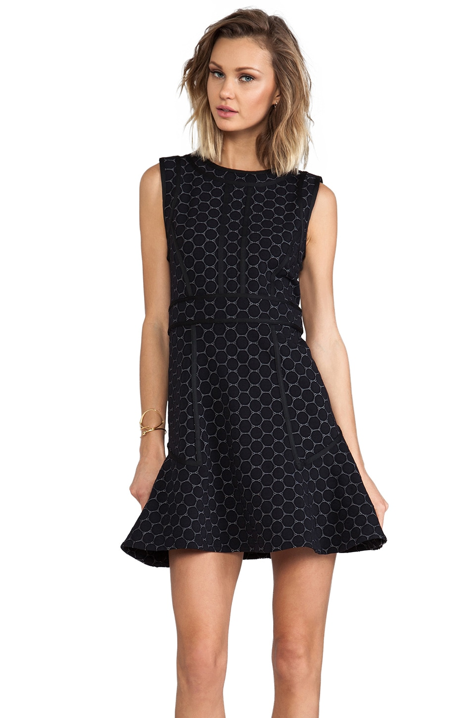 Marc by Marc Jacobs Leyna Dotty Ponte Dress in Black Multi