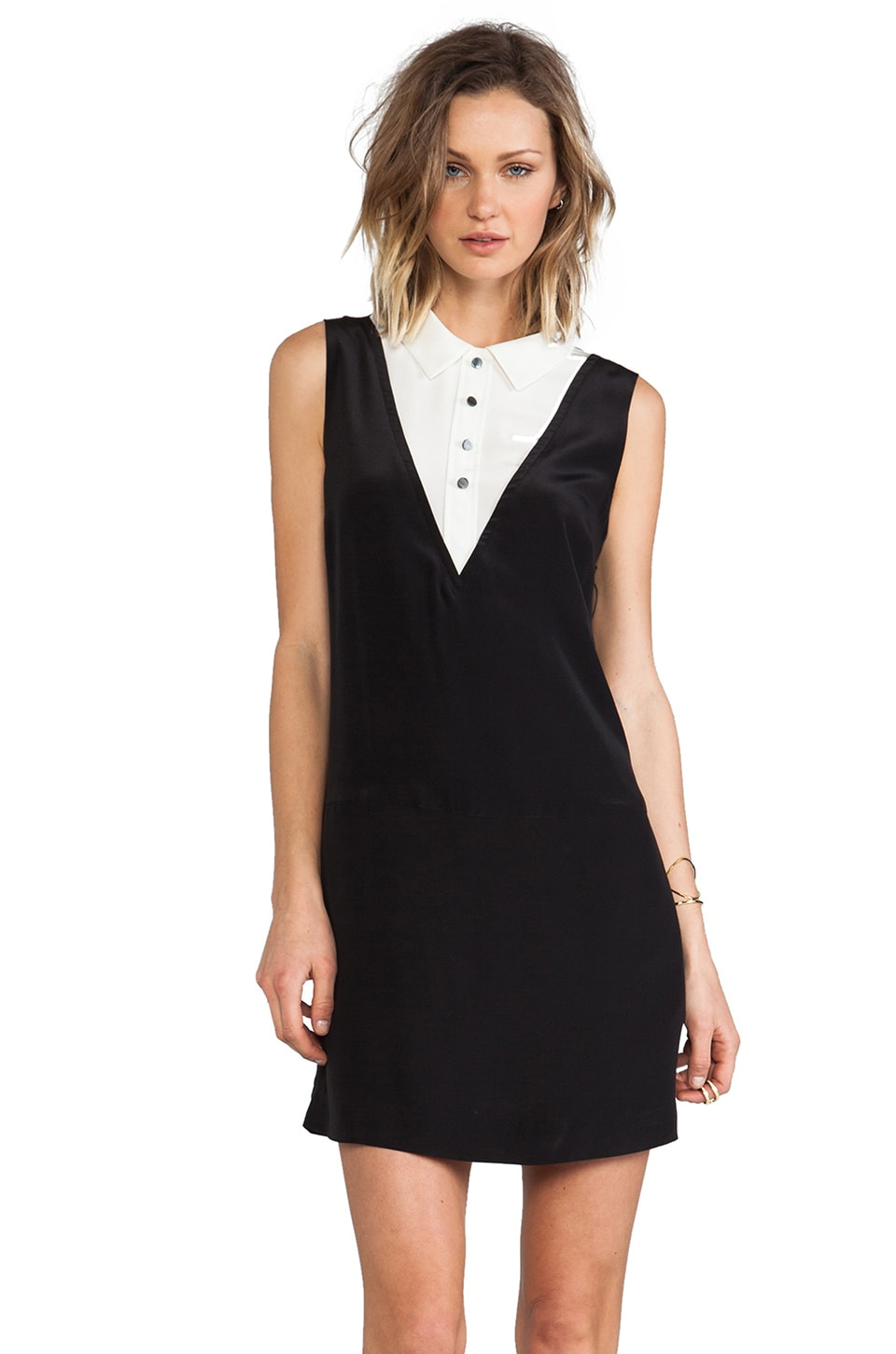 Marc by Marc Jacobs Frances Silk Shift Dress in Black Multi