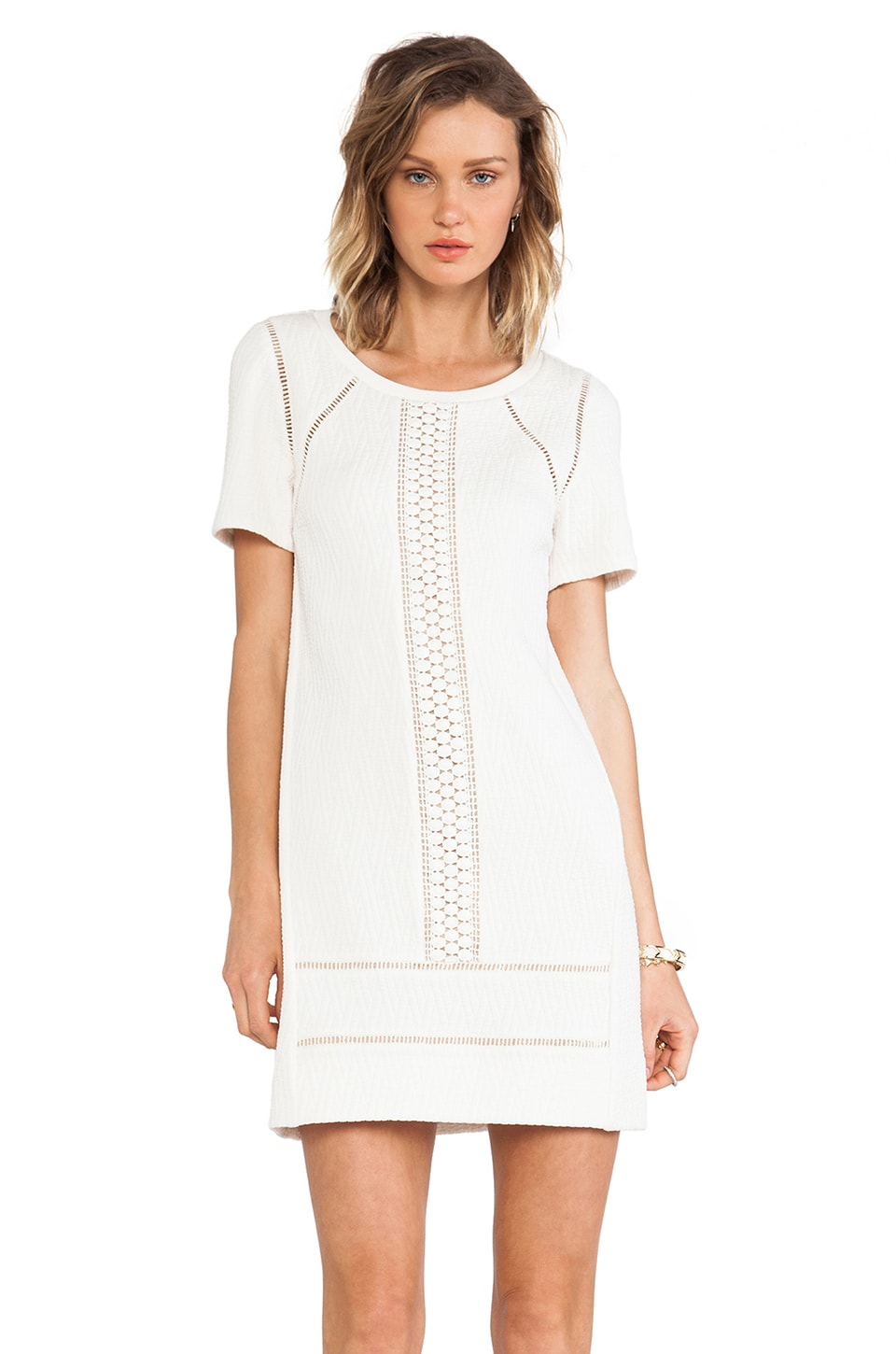 Marc by Marc Jacobs Demi Jacquard Tunic Dress in Antique White