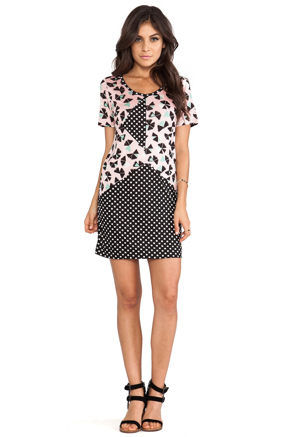 Marc by Marc Jacobs Amelia Printed Jersey Dress in Adobe Pink Multi