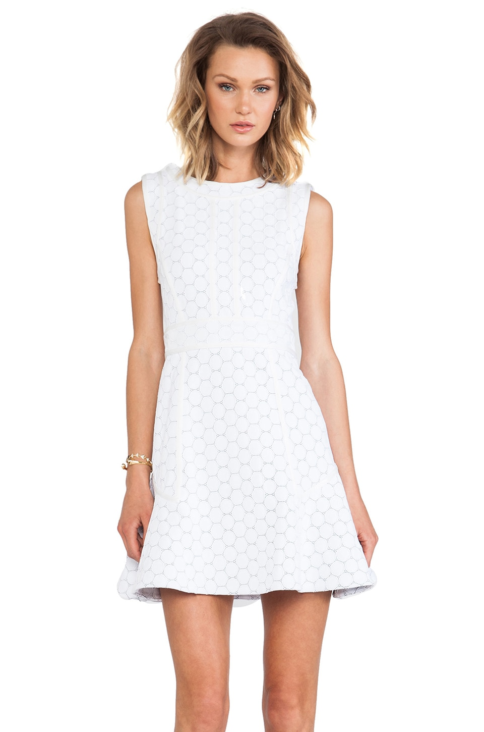 Marc by Marc Jacobs Leyna Dotty Ponte Dress in White Multi