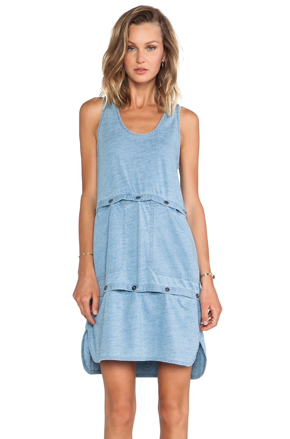 Marc by Marc Jacobs Yili Indigo Jersey Tank Dress/Crop Top in Light Indigo