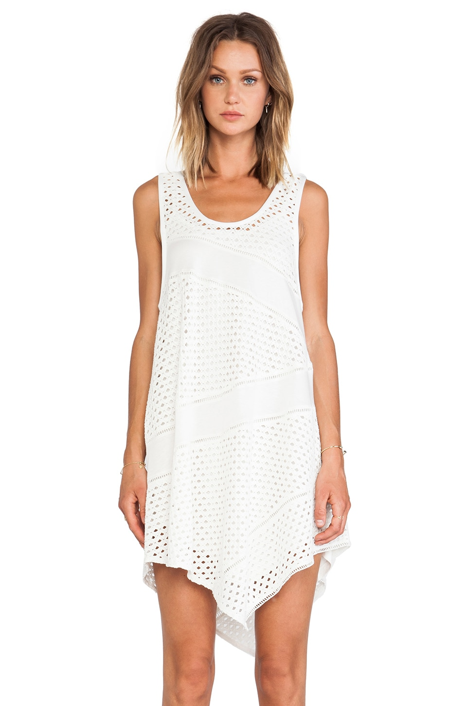 Marc by Marc Jacobs Yuki Eyelet Jersey Dress in Egret