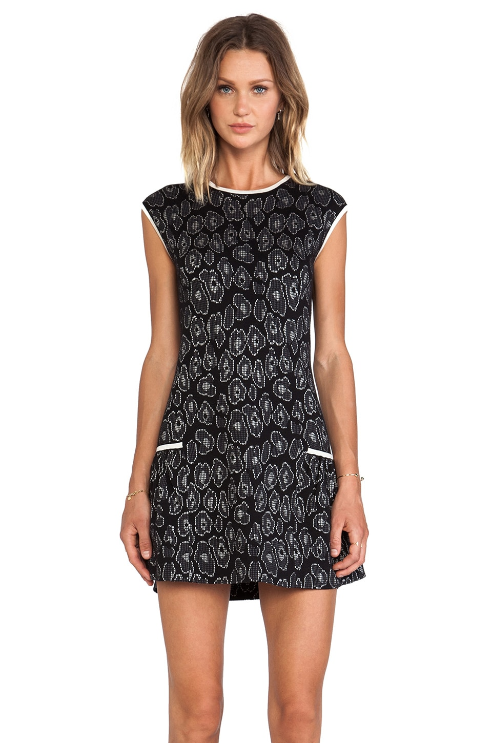 Marc by Marc Jacobs Cassidy Jacquard Sweater Dress in Black Multi
