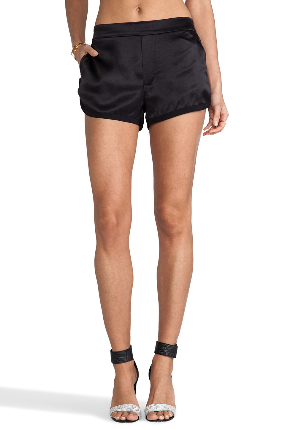 Marc by Marc Jacobs Julee Crepe Shorts in Black