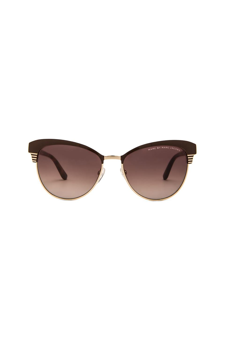 Marc by Marc Jacobs Metal Frame Cat Eye Sunglasses in Light Gold