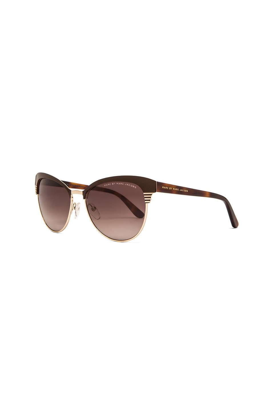 Marc Jacobs Cat Eye Sunglasses  marc by marc jacobs metal frame cat eye sunglasses in light gold