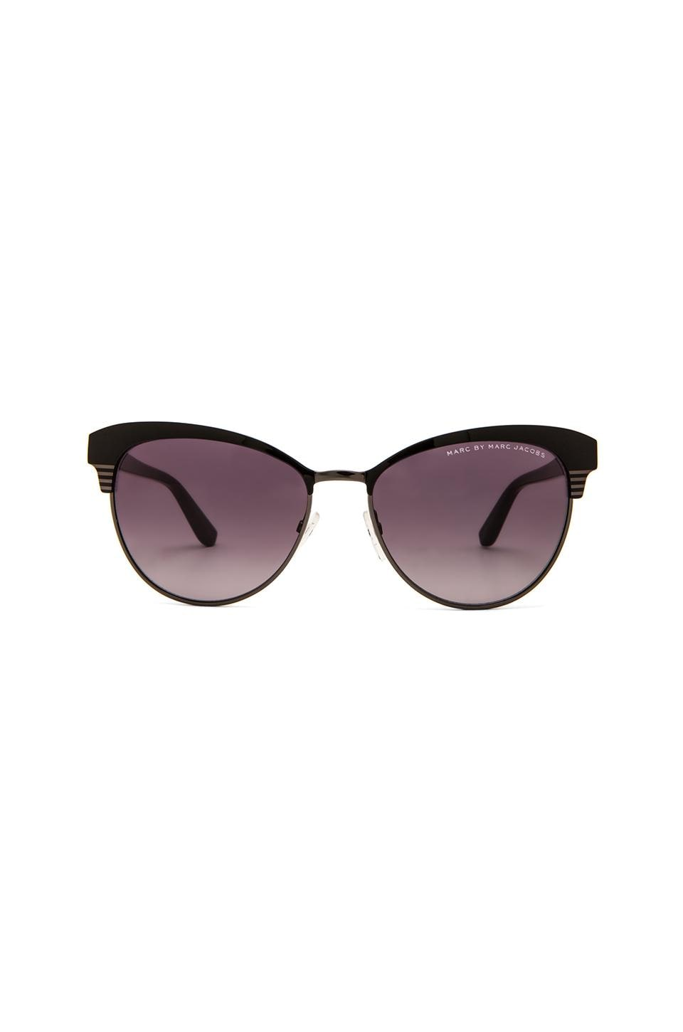 Marc by Marc Jacobs Metal Frame Cat Eye Sunglasses in Ruthenium