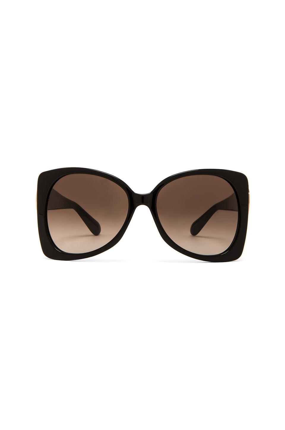 Marc by Marc Jacobs Side Detail Oversize Sunglasses in Black
