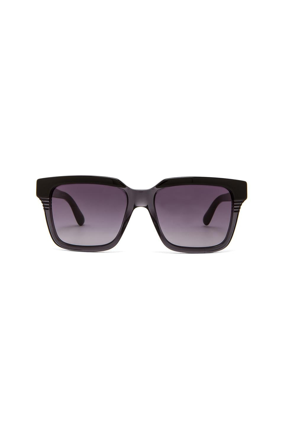 Marc by Marc Jacobs Thick Frame Square Sunglasses in Black Gray