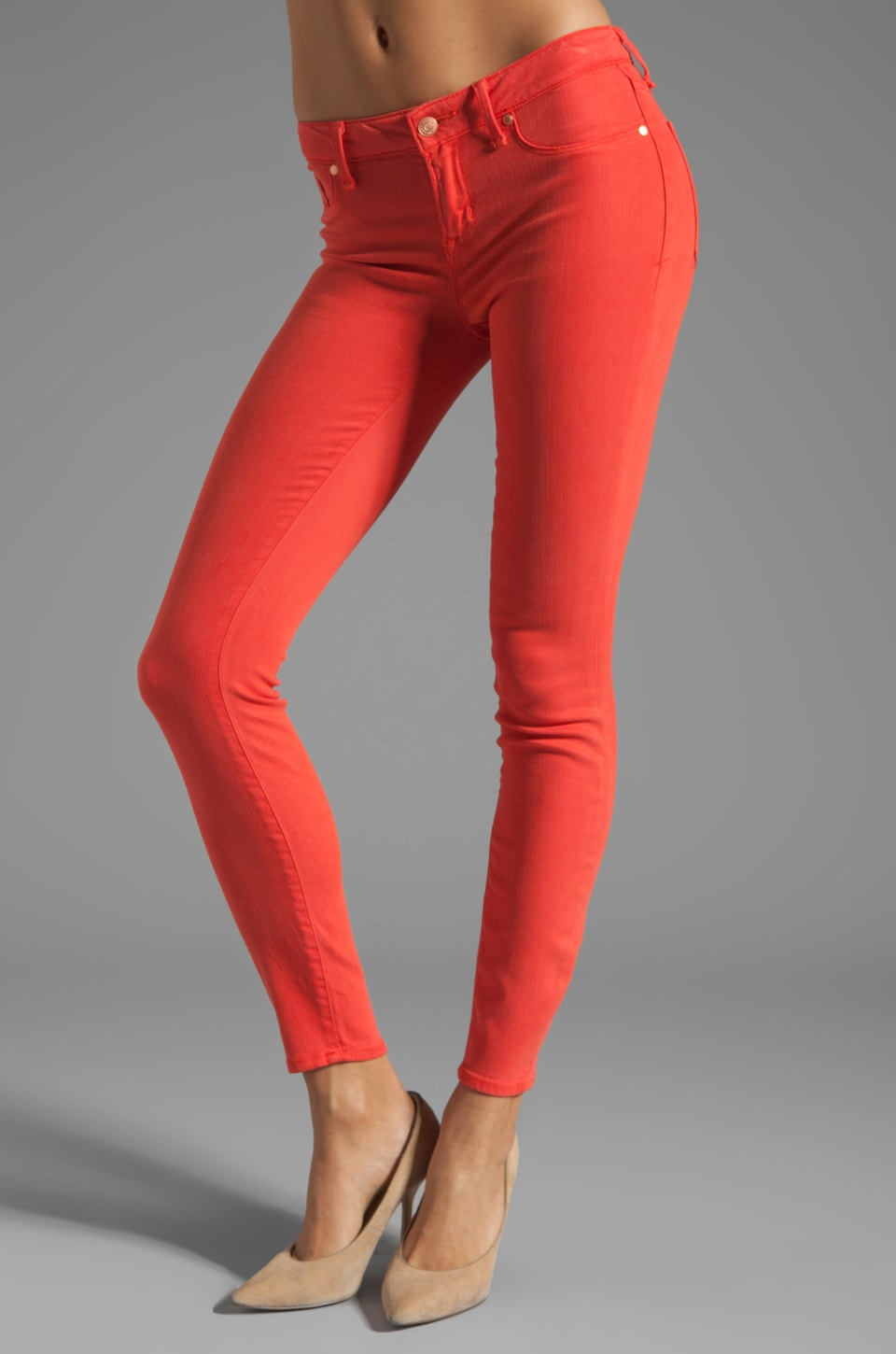 Marc by Marc Jacobs Stick Skinny in Flamingo Red