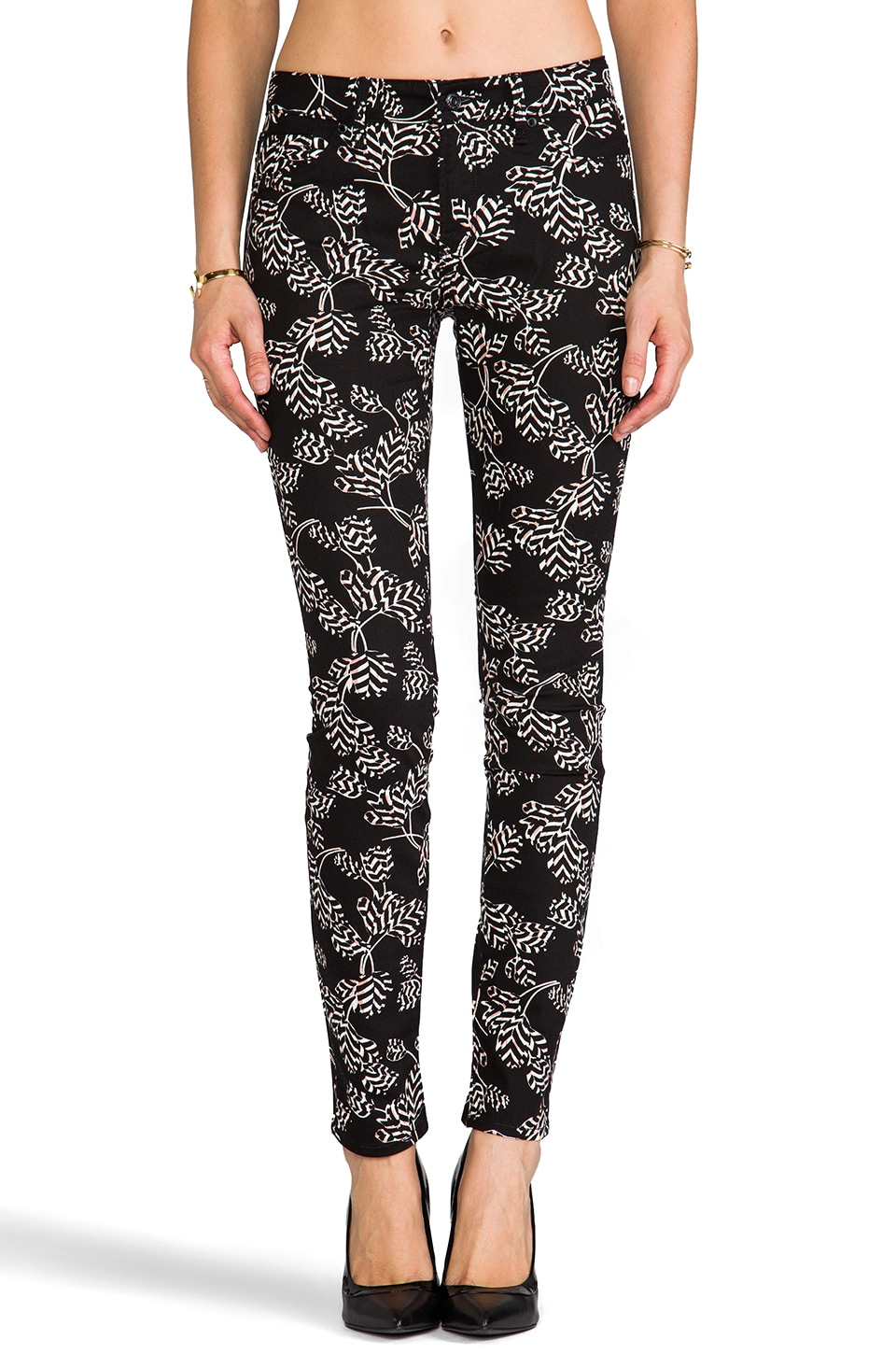 Marc by Marc Jacobs Stick Mid Rise Straight Leg in Black Multi Rae Rae