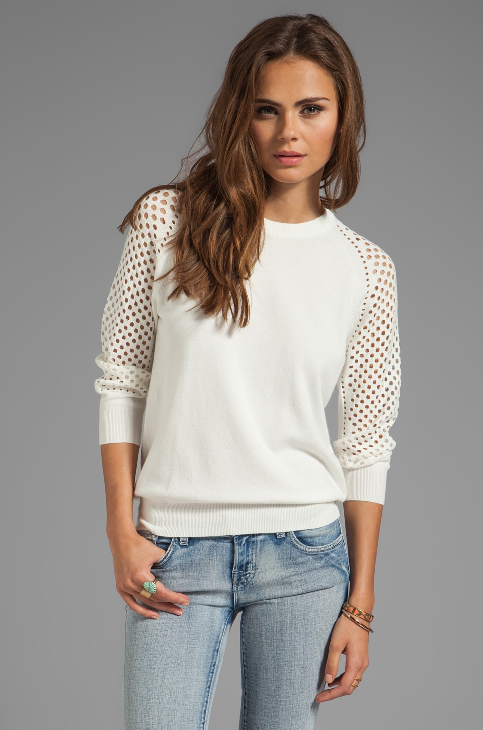 Marc by Marc Jacobs Cienaga Sweater Pullover in Wicken White