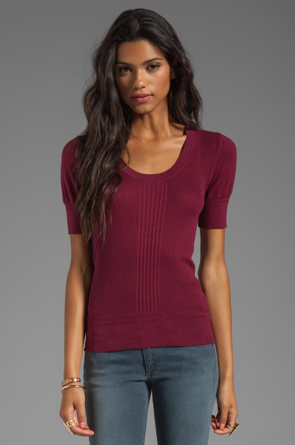 Marc by Marc Jacobs Owen Sweater Pullover in Merlot