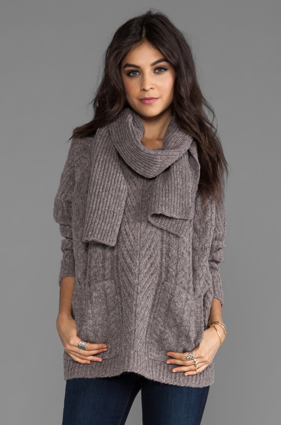 Marc by Marc Jacobs Connolly Sweater in Lavender Grey Melange