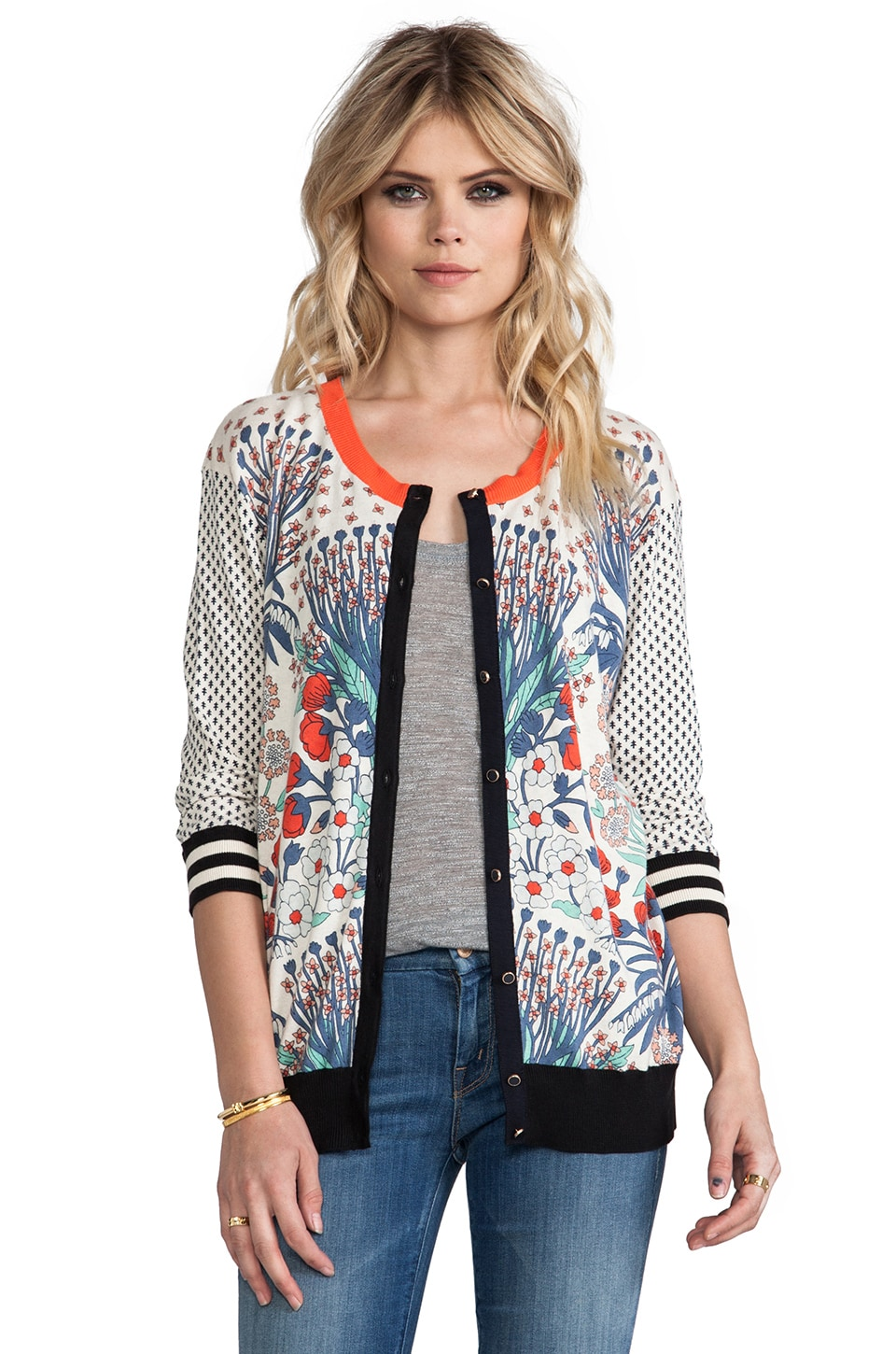 Marc by Marc Jacobs Madeline's Garden Printed Sweater in Bone Multi