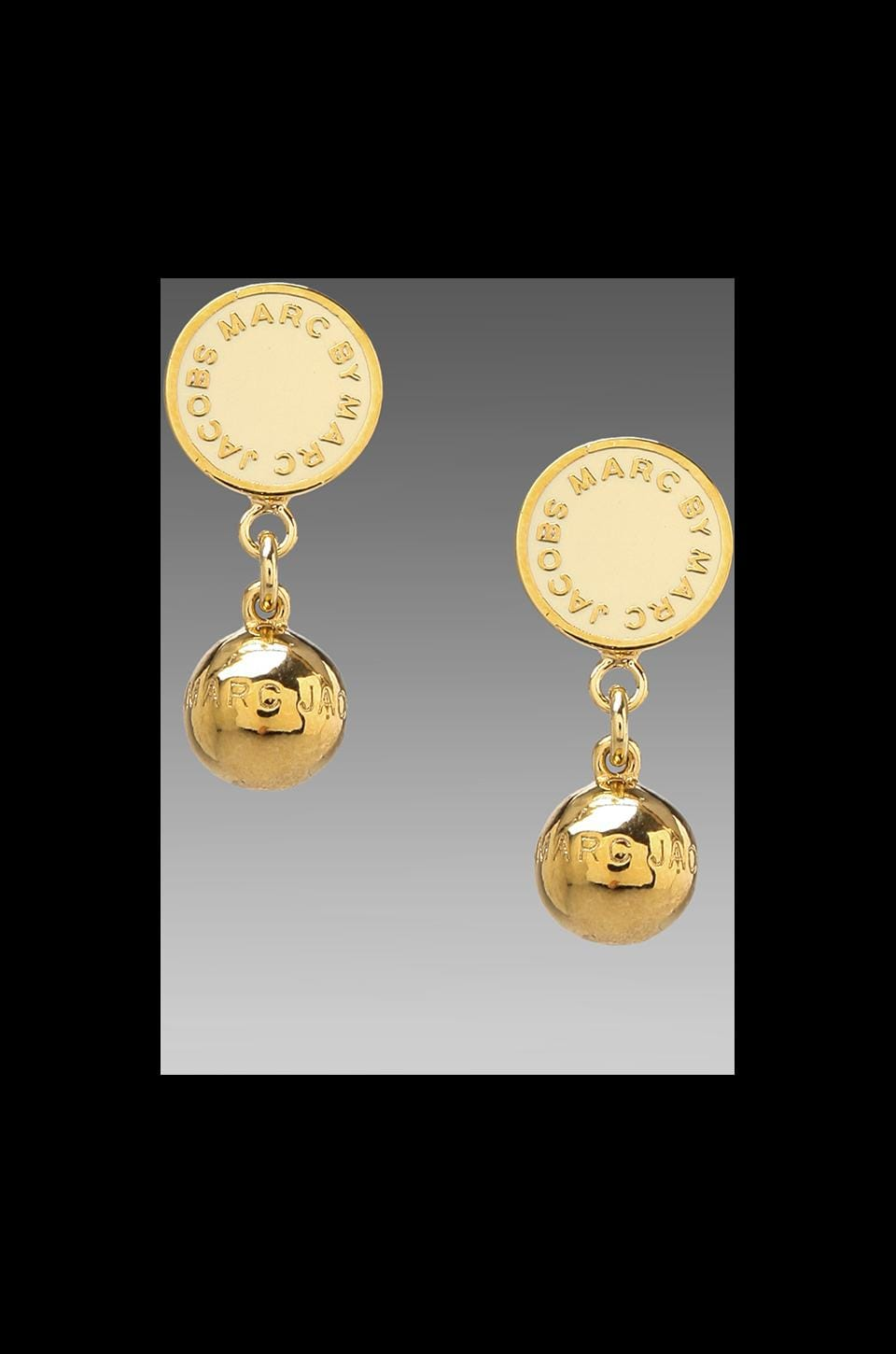 Marc by Marc Jacobs Classic Marc Drop Earrings in Cream