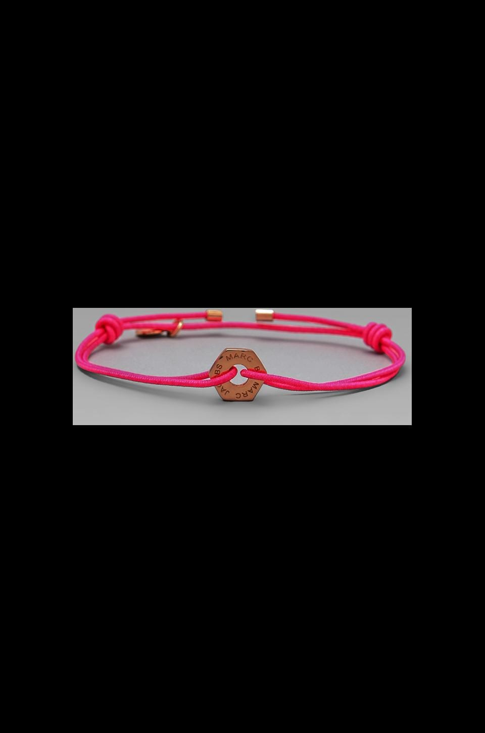 Marc by Marc Jacobs Bolt Friendship Bracelet in Knockout Pink