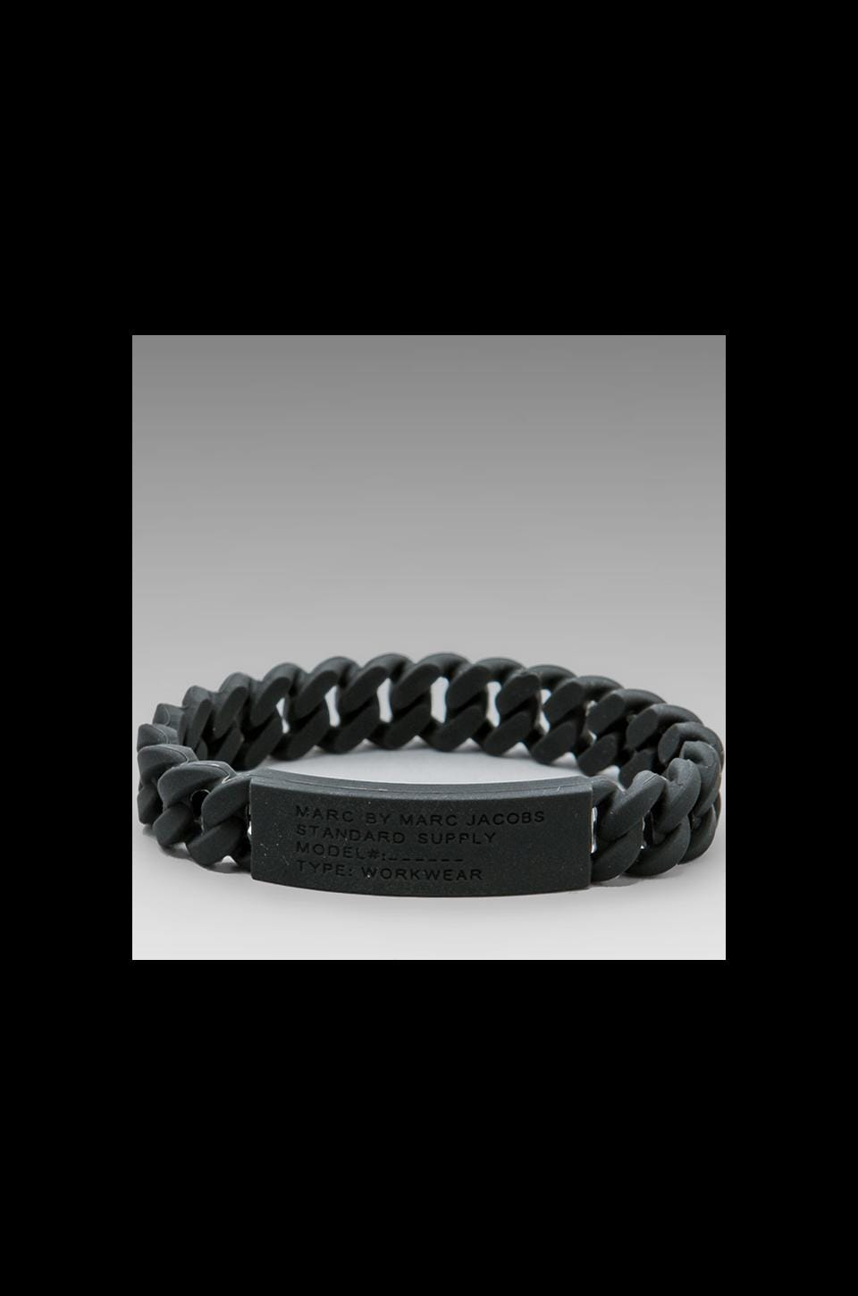 Marc by Marc Jacobs Rubber Standard Supply Bracelet in Black