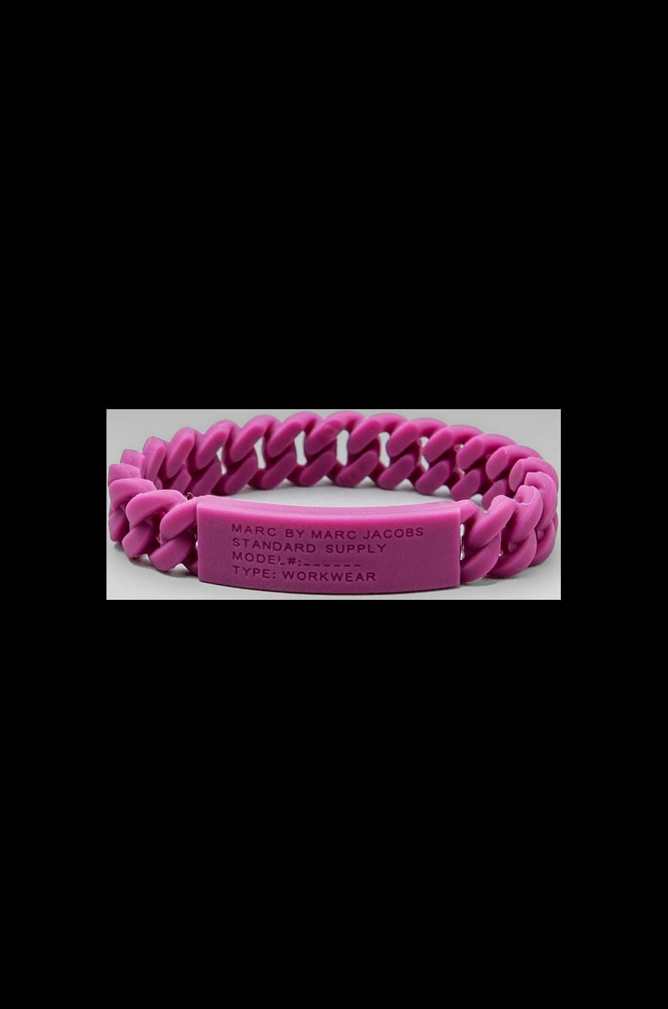 Marc by Marc Jacobs Rubber Standard Supply Bracelet in Plum