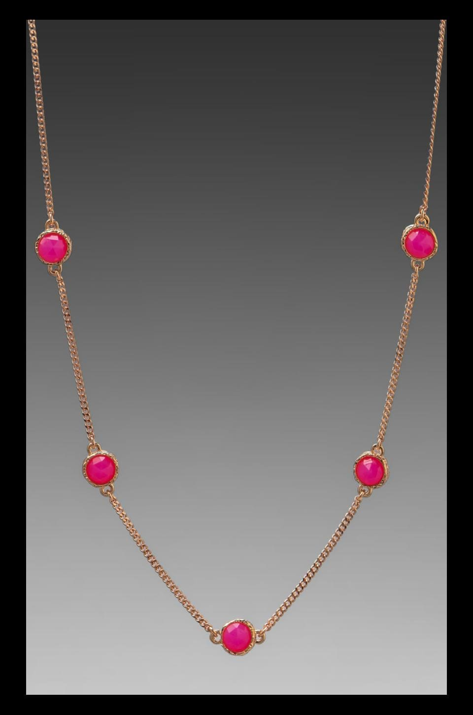 Marc by Marc Jacobs Bow Short Necklace in Knockout Pink
