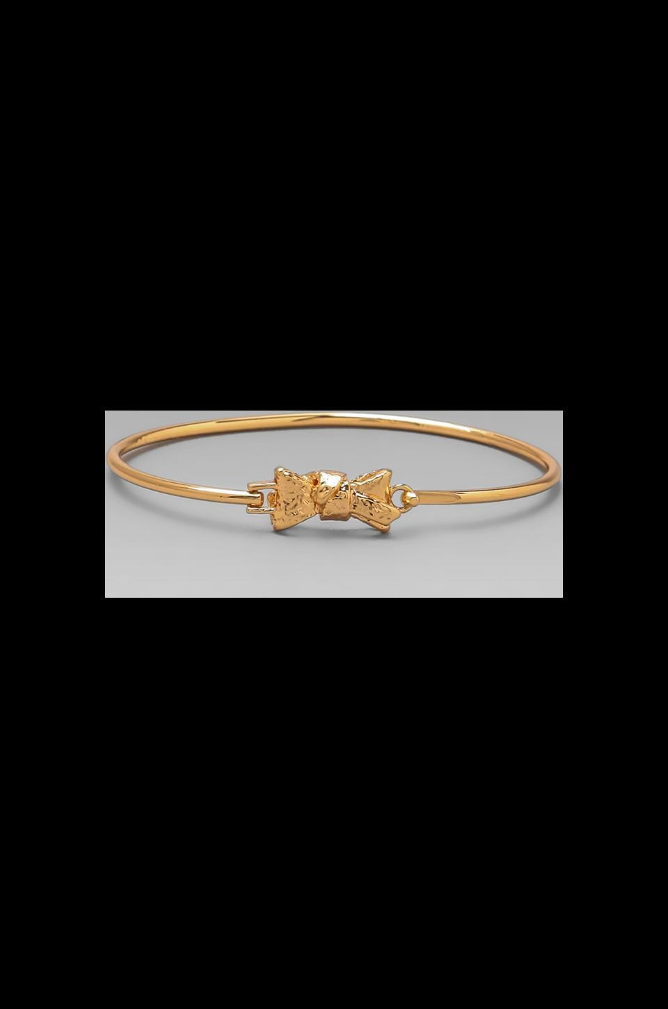 Marc by Marc Jacobs Tiny Bow Bangle in Rose Gold