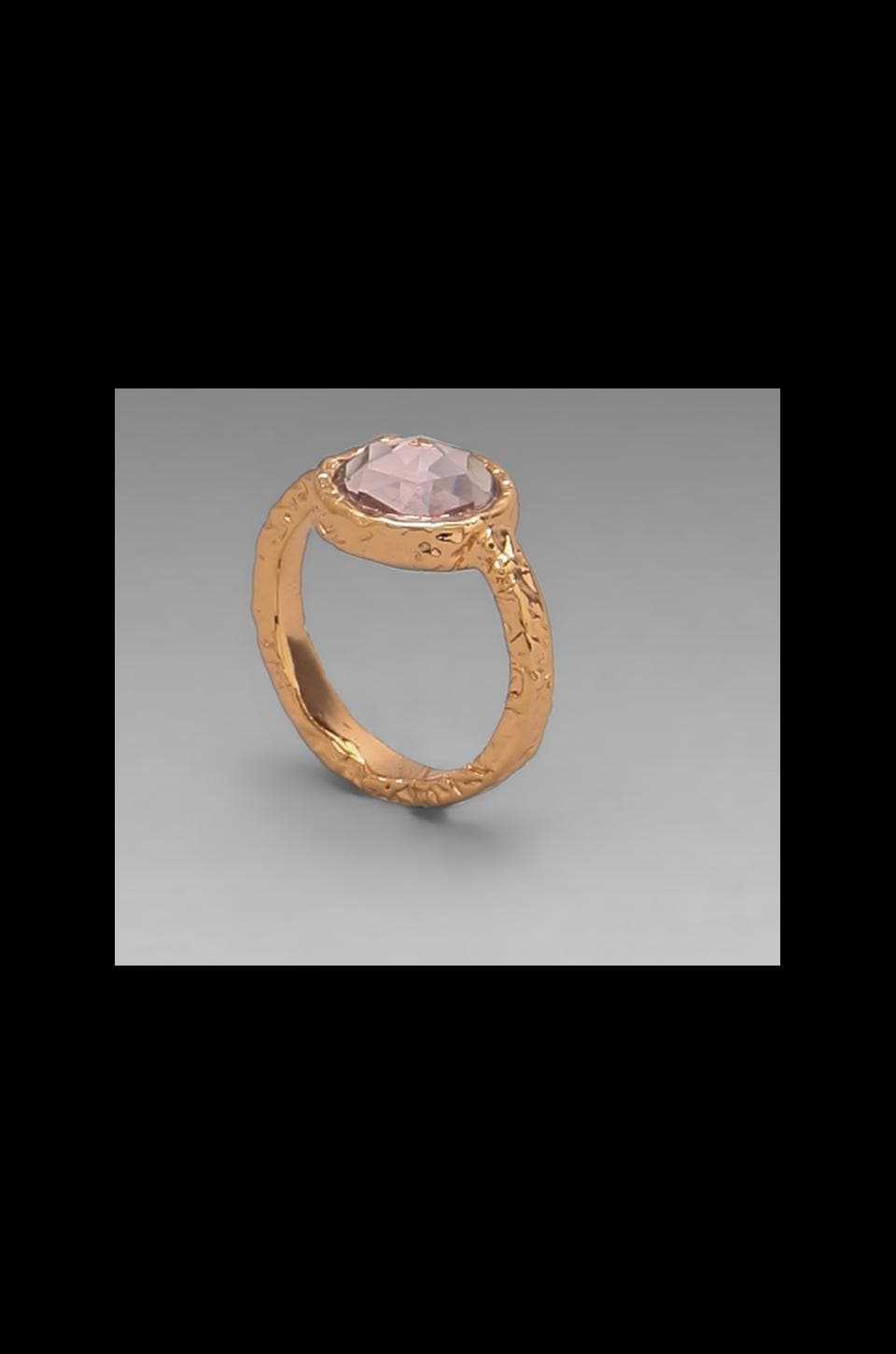 Marc by Marc Jacobs Bow Tiny Crystal Ring in Light Rose