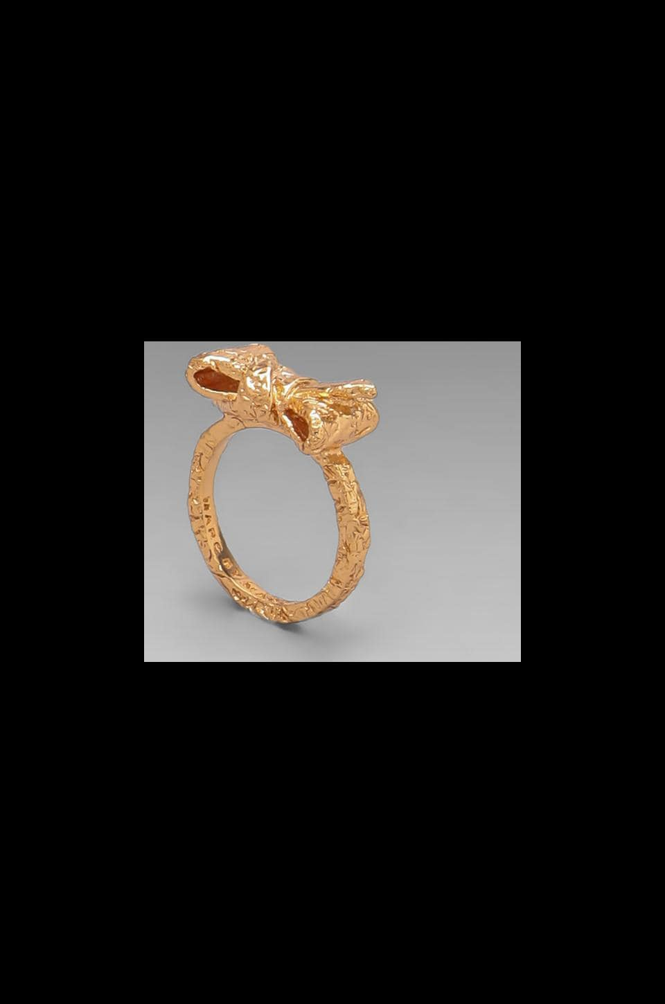 Marc by Marc Jacobs Tiny Bow Ring in Rose Gold
