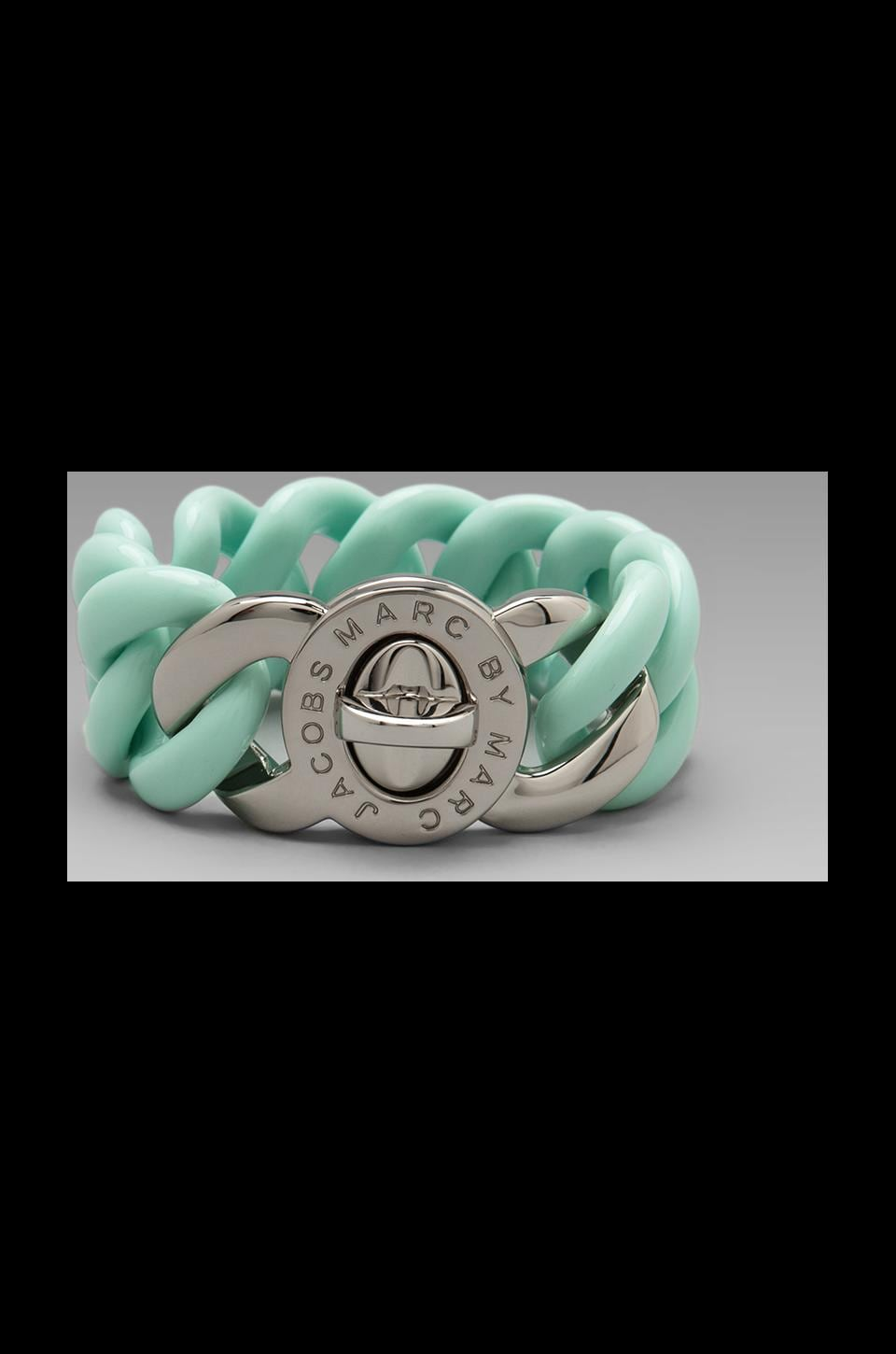 Marc by Marc Jacobs Key Items Small Candy Turnlock Bracelet in Glacial Blue (Argento)