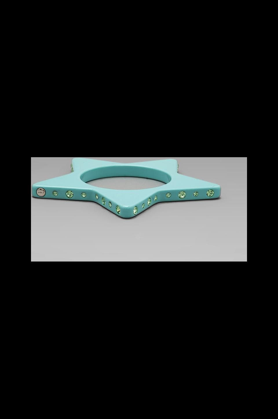 Marc by Marc Jacobs Key Items Star Slice Bangle in Glacial Blue (Oro)