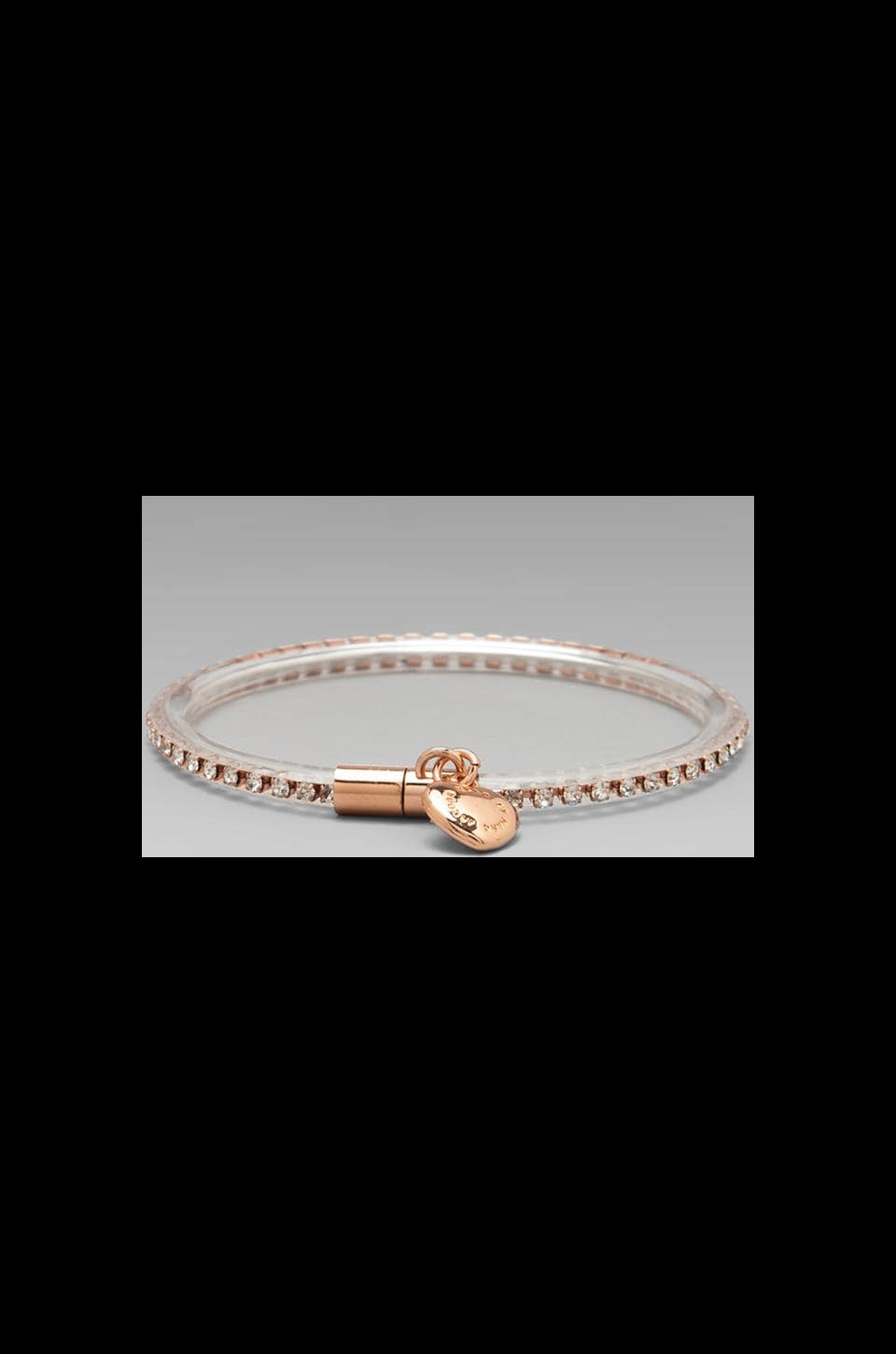 Marc by Marc Jacobs Key Items Magnetic Crystal Bracelet in Clear (Oro)
